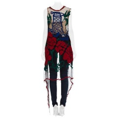 1920S Morphew Collection Embroidery Net Lace Long  Vest