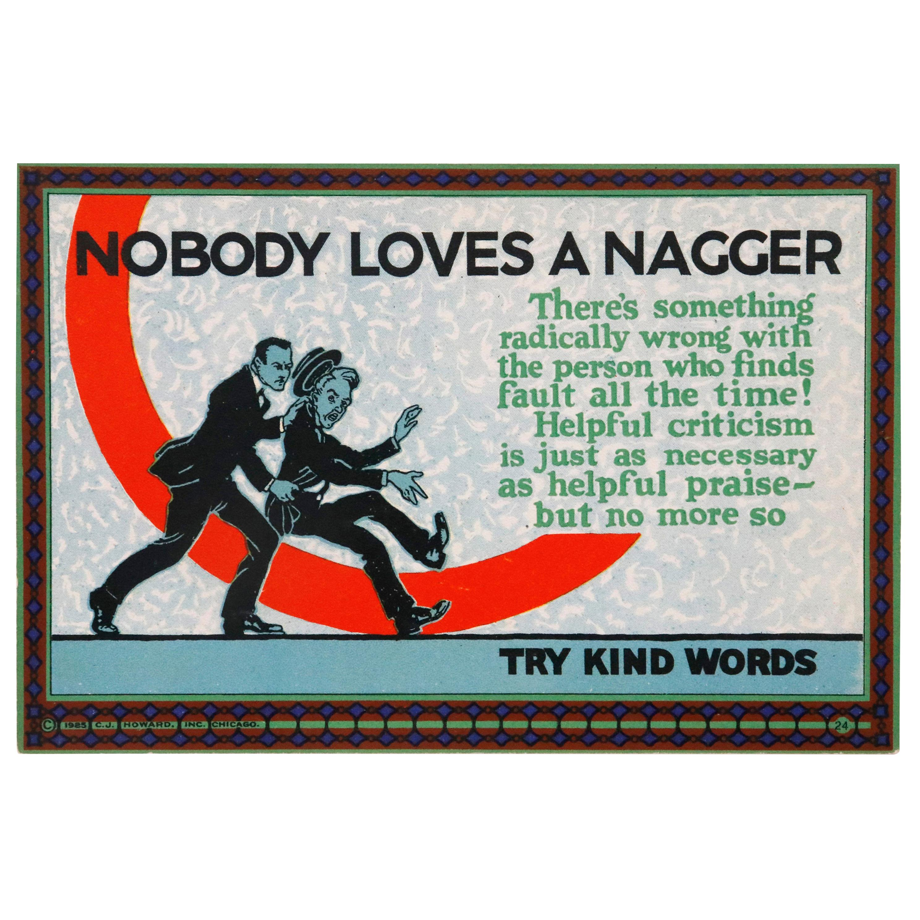 """1920s """"MOTIVATIONAL"""" Cards for the Workplace"""