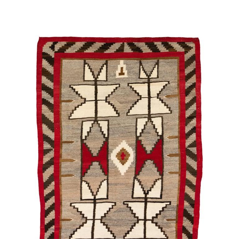 Native American 1920s Navajo Crystal/Floor Weaving For Sale