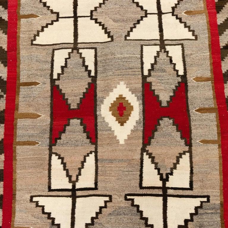 American 1920s Navajo Crystal/Floor Weaving For Sale
