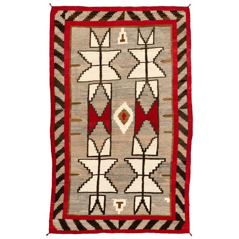 1920s Navajo Crystal/Floor Weaving For Sale
