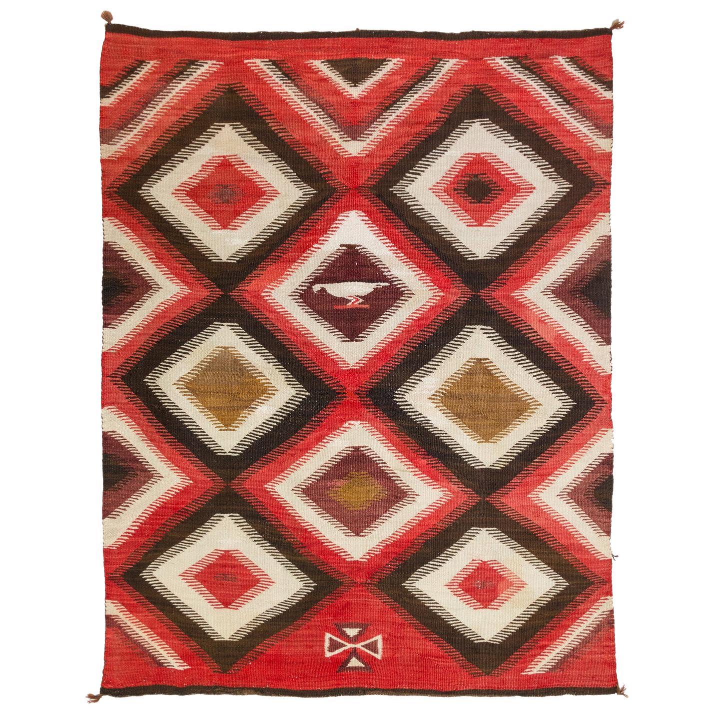 1920s Navajo Transitional Pictorial Blanket