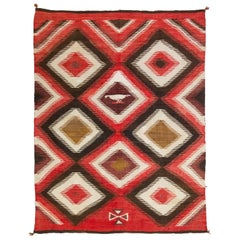 1920s Navajo Transitional Pictorial Blanket