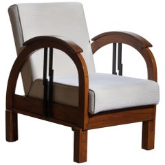 1920s, Oak Art Deco Club Lounge Armchair