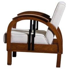 1920s, Oak Art Deco Club Lounge Armchair 1