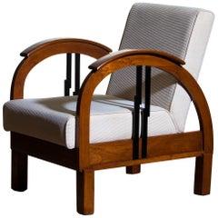 1920s, Oak Art Deco Club Lounge Armchair