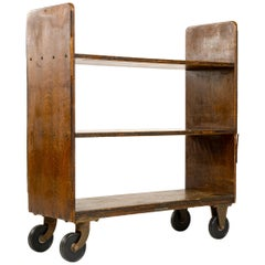 1920s Oak Book Trolly by Library Bureau SoleMakers