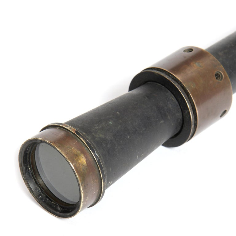Bronze 1920s Optical Telescope Lens by Bausch & Lomb For Sale