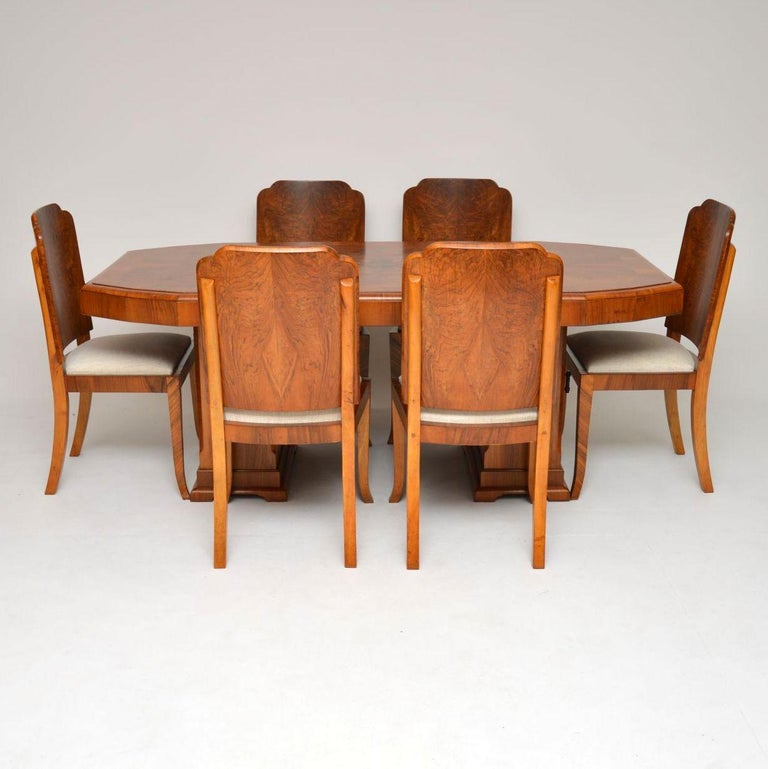 Fabulous 1920S Original Art Deco Walnut Dining Table And Chairs Cjindustries Chair Design For Home Cjindustriesco