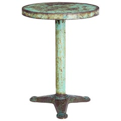1920s Painted Metal Bistro Table