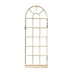 1920s Painted Steel Patio Door or Window 20 Pane Window or Door