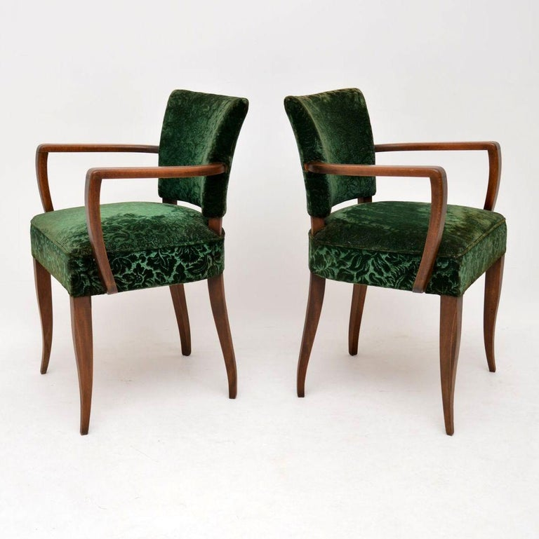1920s Pair of French Art Deco Armchairs For Sale at 1stdibs