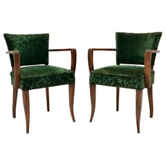 1920s Pair of French Art Deco Armchairs