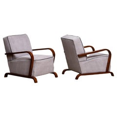 1920s, Pair of Scandinavian Art Deco Armchair / Lounge / Club Chairs from Sweden