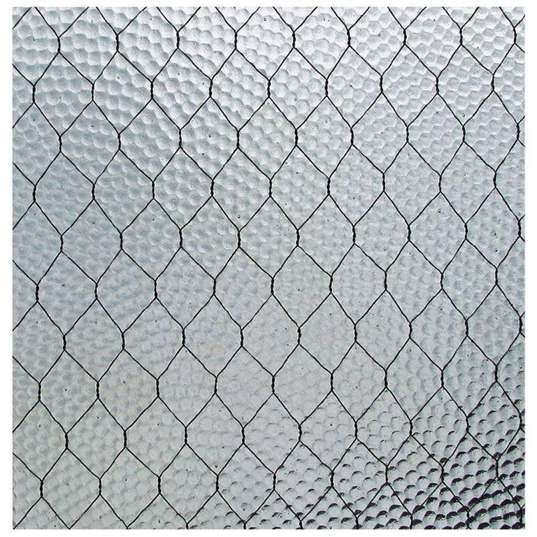 1920s 'Pebbled' Vintage Chicken Wire Glass