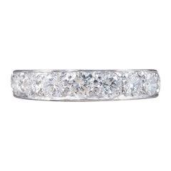1920s Platinum Eternity Ring Set with 2.40 Carat Diamonds