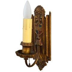 1920s Polychromed Sconces