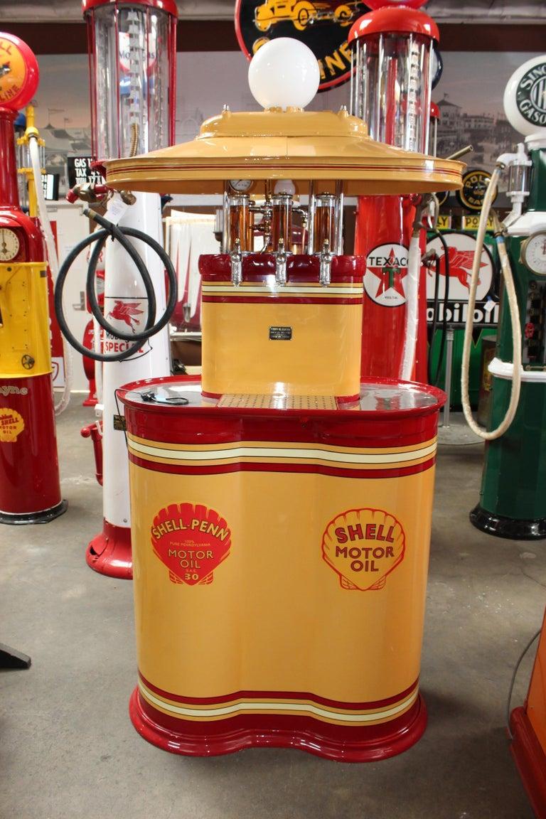 American 1920s Premier Oil Fountain Model 62 Island Oil Dispenser For Sale