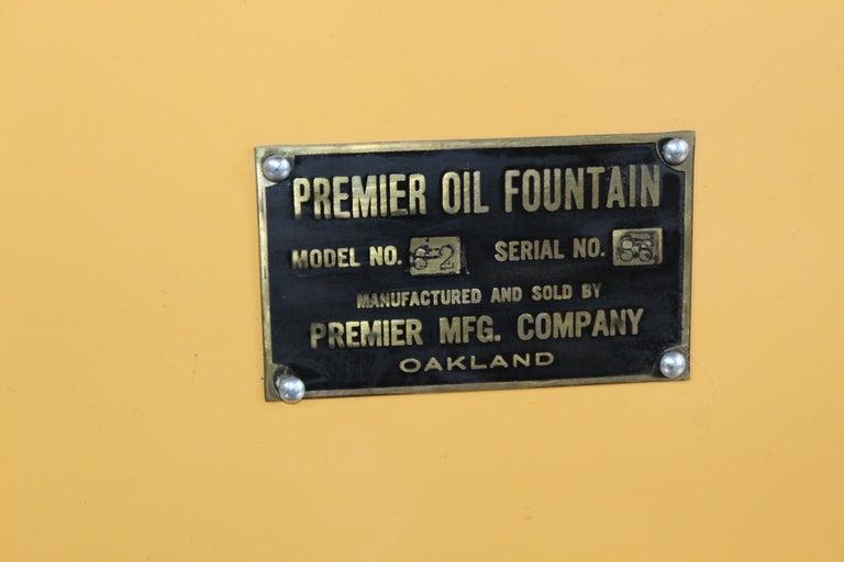 Metal 1920s Premier Oil Fountain Model 62 Island Oil Dispenser For Sale