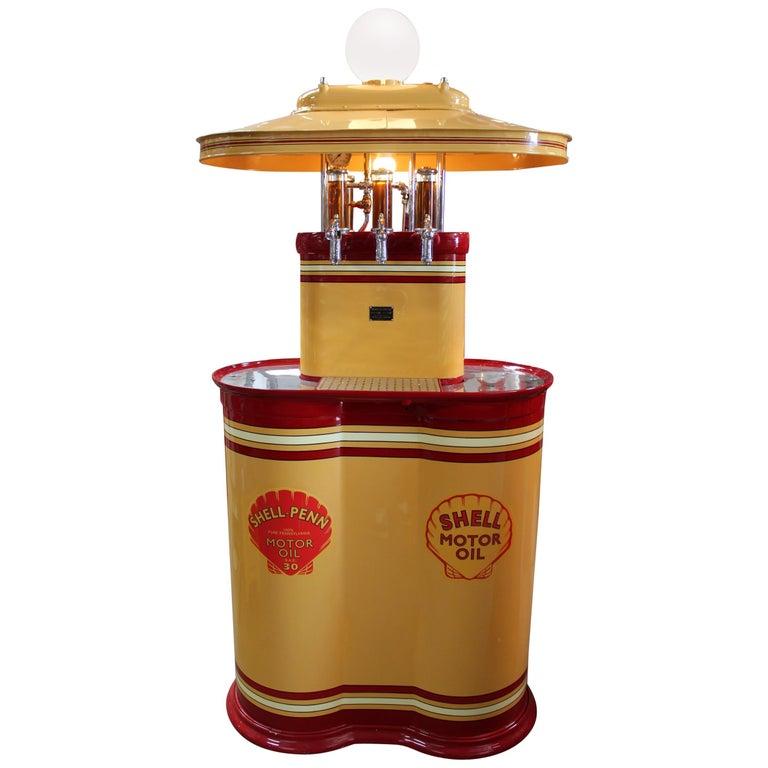 1920s Premier Oil Fountain Model 62 Island Oil Dispenser For Sale