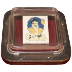 1920s Raleigh Cigarette Paper Weight or Coin Tray