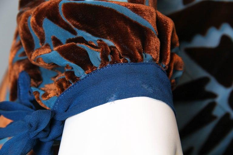 1920s Raoul Dufy style Silk Velvet Dress For Sale 2