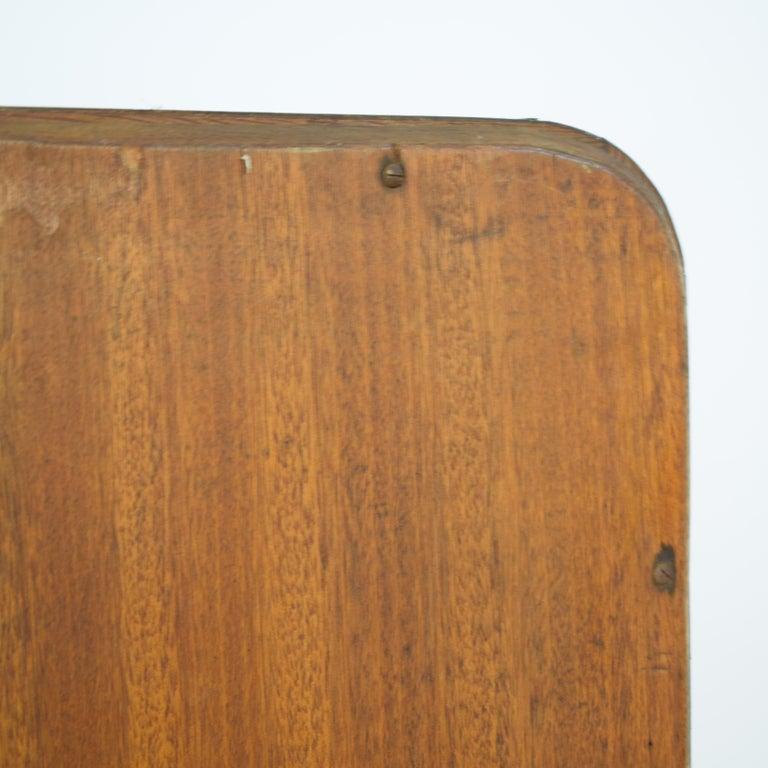 1920s Rotatable Light Brown Birch Art Deco Cheval Dressing Mirror Original Glass For Sale 8