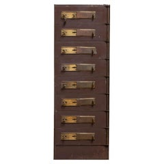 1920's Row of Eight Safety Deposit Boxes / Security Lockers from a Bank Safe
