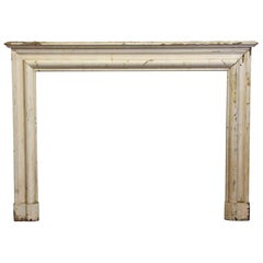 1920s Rustic Wood Bolection Mantel Wide Simple Style