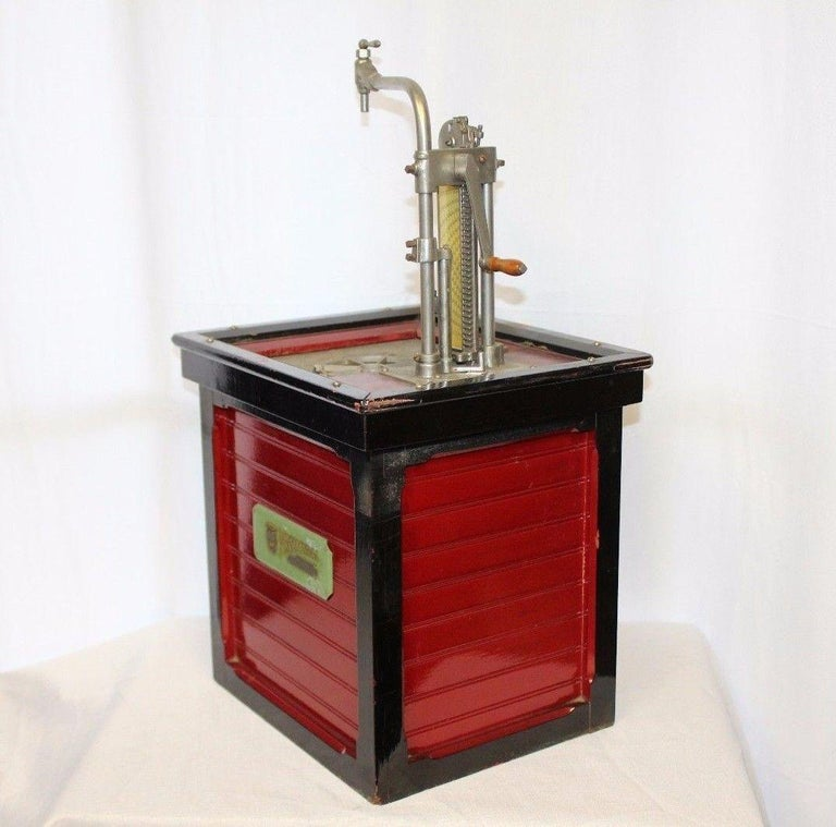 American 1920s Salesman Sample National Store Supply Oil Pump Dispenser For Sale