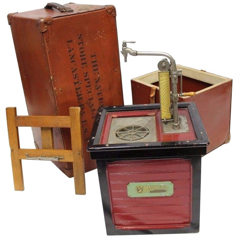 1920s Salesman Sample National Store Supply Oil Pump Dispenser For Sale