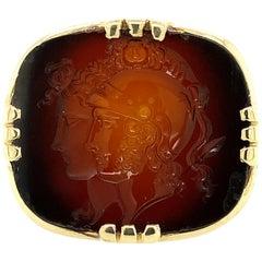 1920s Sardonyx Intaglio Ring
