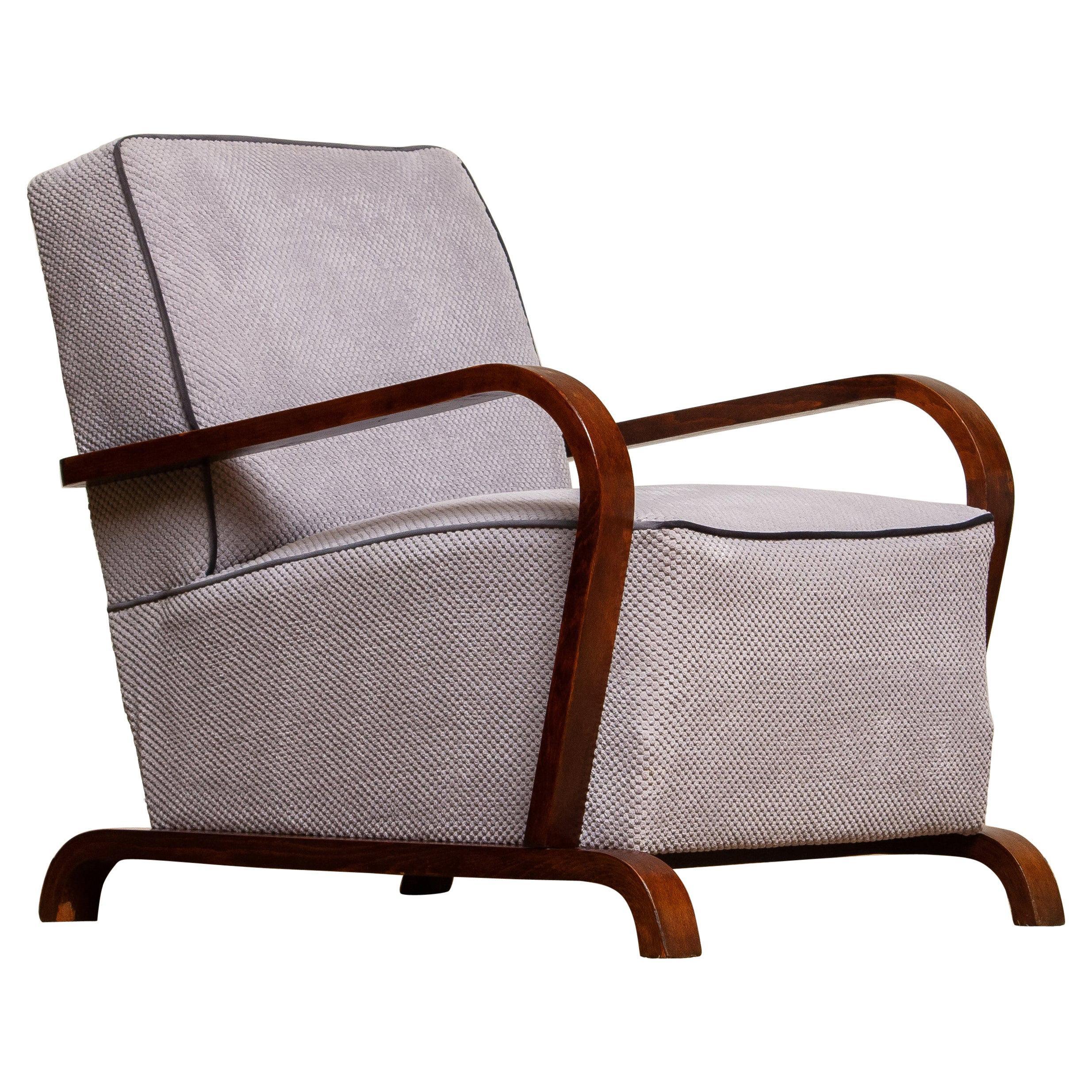 1920s, Scandinavian Art Deco Armchair Lounge Club Chair from Sweden