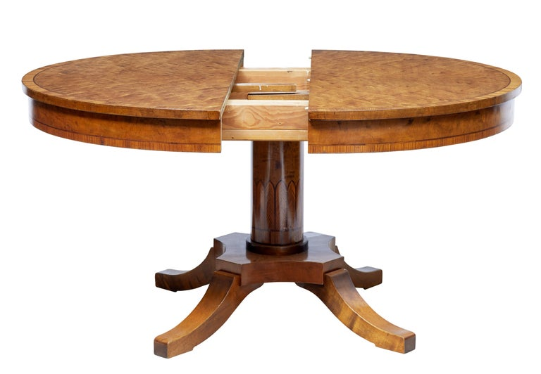 1920s Scandinavian Birch Dining Table and 4 Matching Chairs 4