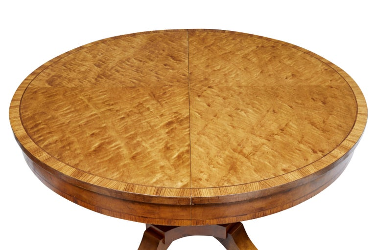 1920s Scandinavian Birch Dining Table and 4 Matching Chairs 5