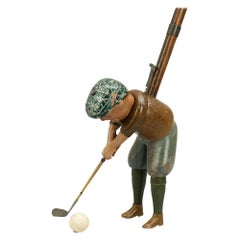 1920s Schoenhut Indoor Golf Toy, Tommy Green, Golf Game
