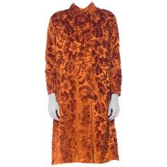 1920s Silk Burnout Velvet Coat