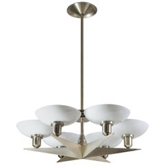 "1920s ""Silver Star"" Art Deco Chandelier"