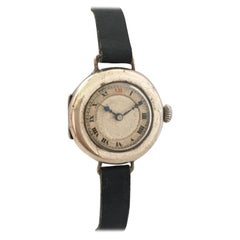 1920s Silver Vintage Ladies Trench Watch