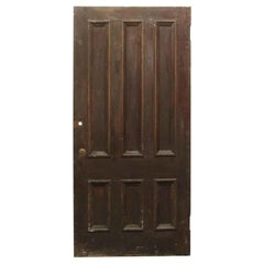 1920s Six Panel Dark Tone Chestnut Wide Privacy Door