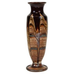 1920s Small Multi-Color Glazed Vase from France