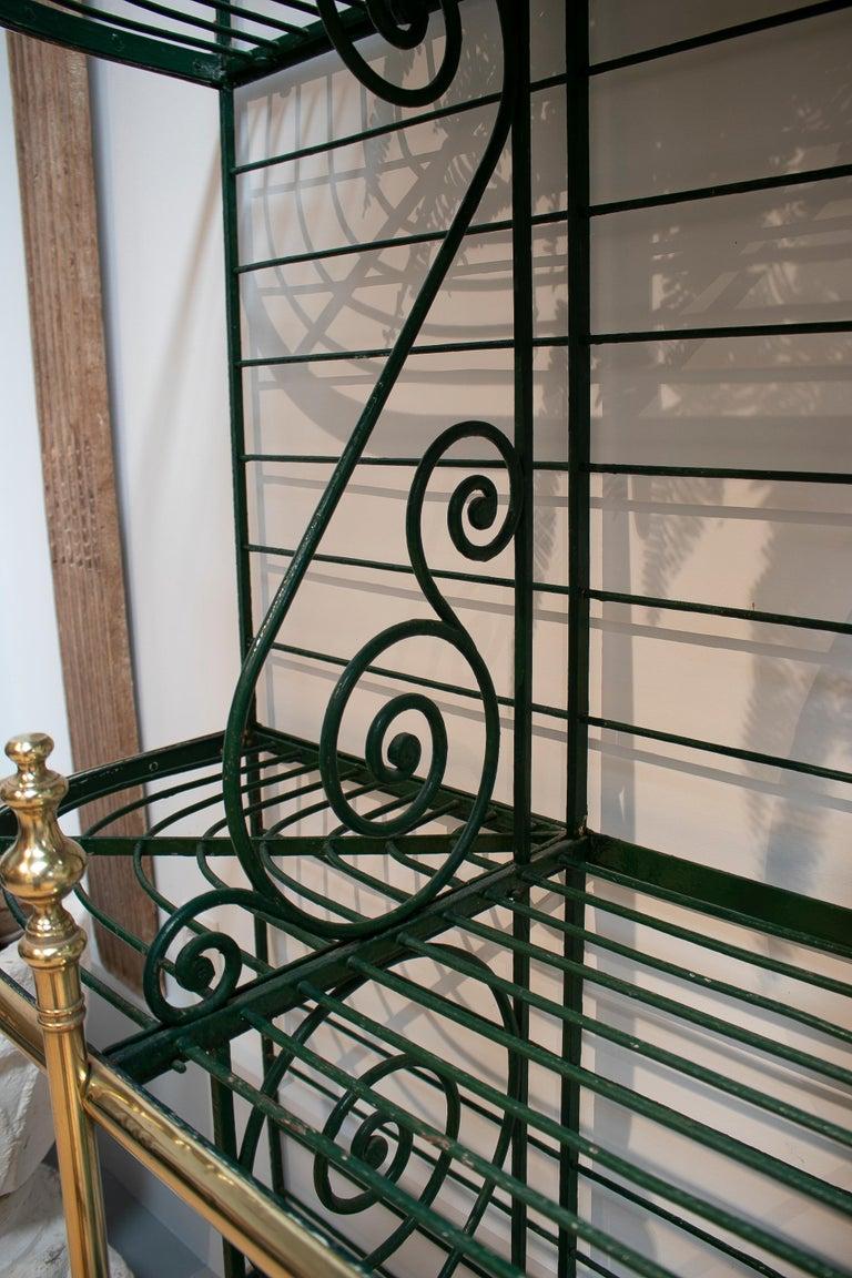 1920s Spanish Bronze and Iron Three Shelf Bakers Rack For Sale 7