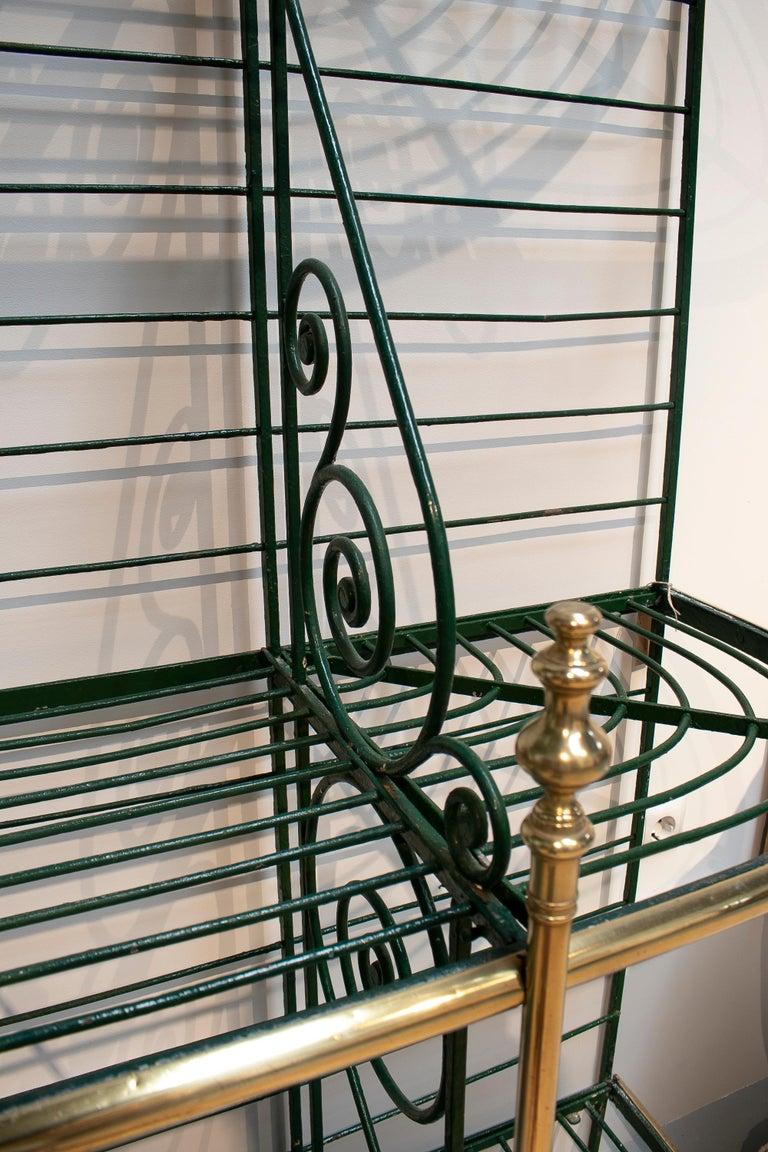1920s Spanish Bronze and Iron Three Shelf Bakers Rack For Sale 2