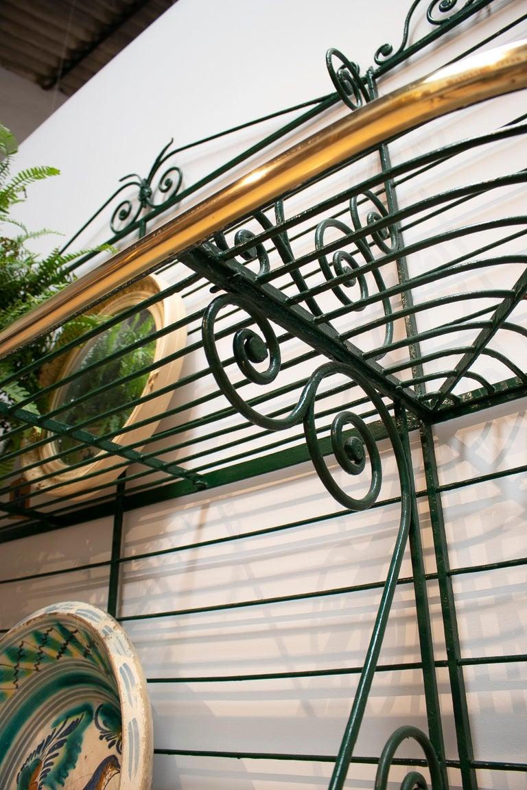 1920s Spanish Bronze and Iron Three Shelf Bakers Rack For Sale 3
