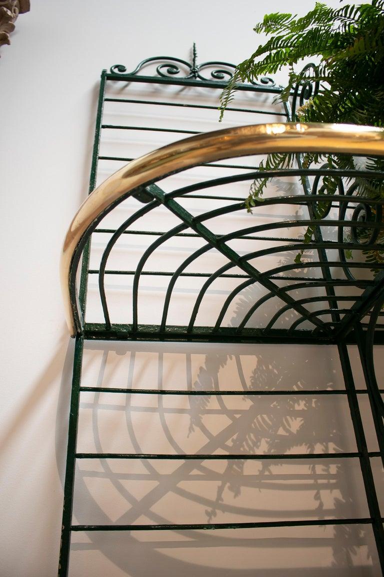 1920s Spanish Bronze and Iron Three Shelf Bakers Rack For Sale 5