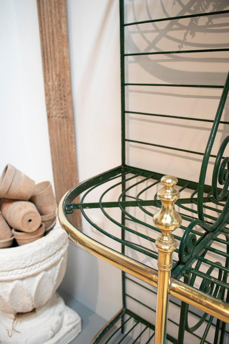 1920s Spanish Bronze and Iron Three Shelf Bakers Rack For Sale 6