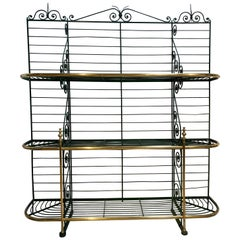 1920s Spanish Bronze and Iron Three Shelf Bakers Rack