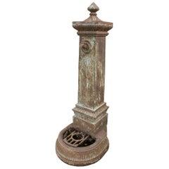 1920s Spanish Cast Iron Water Fountain