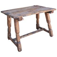 1920s Spanish Farmhouse Wooden Side Table