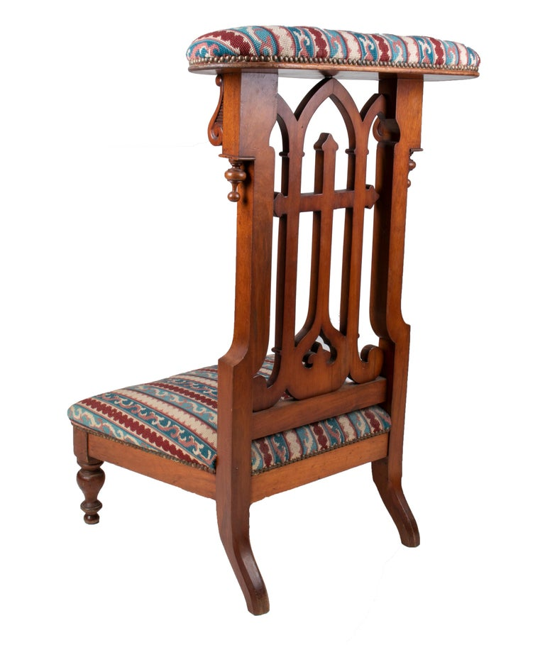 French 1920s Spanish Hand Carved Ornate Walnut Wood